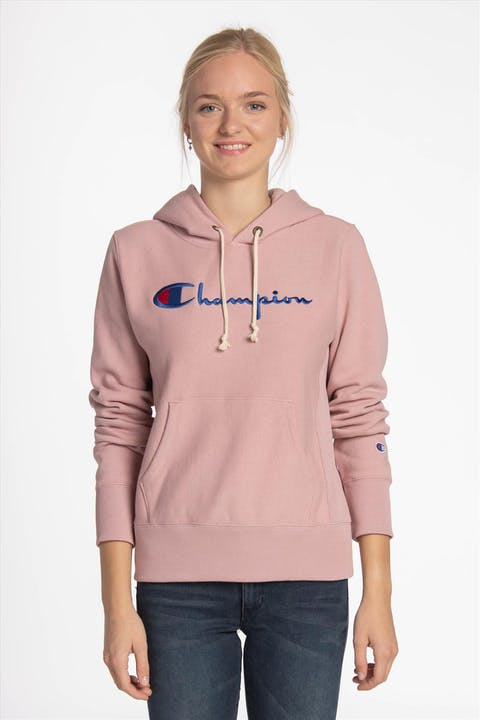 Lichtroze Big Logo sweater met kap