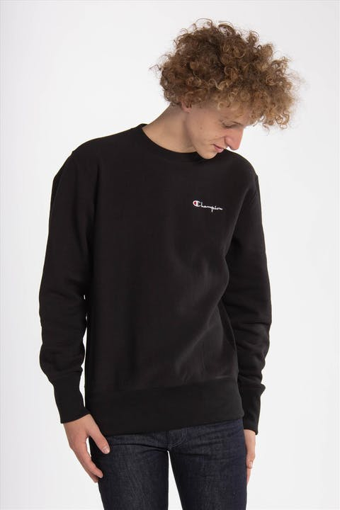 Zwarte Embroidery Logo sweater