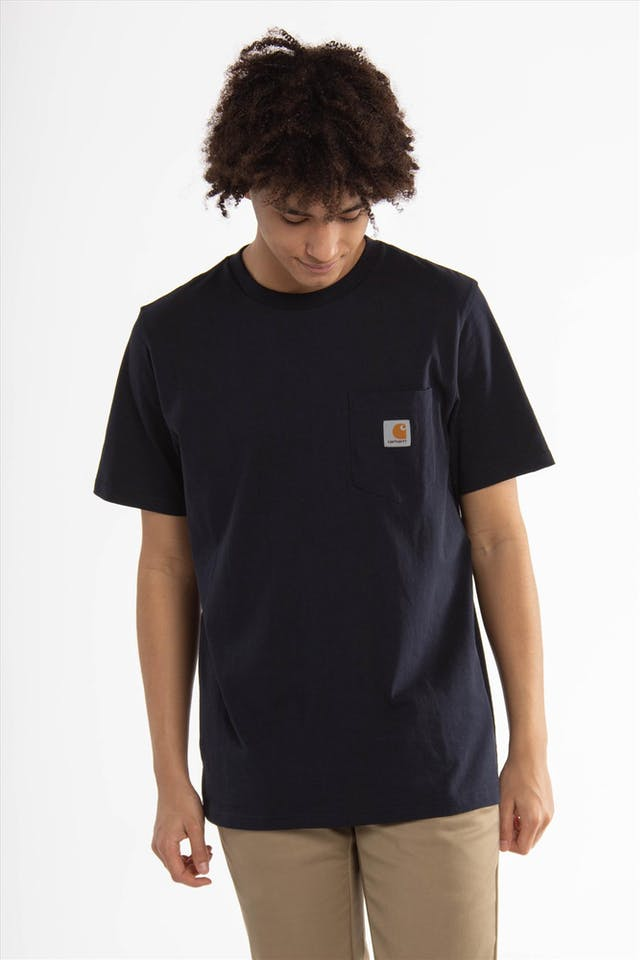 Donkerblauwe Pocket T-shirt