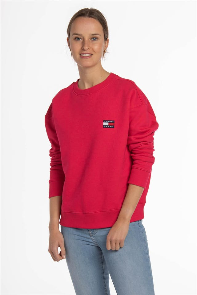 Fuchsia TJW Tommy Badge Crew sweater