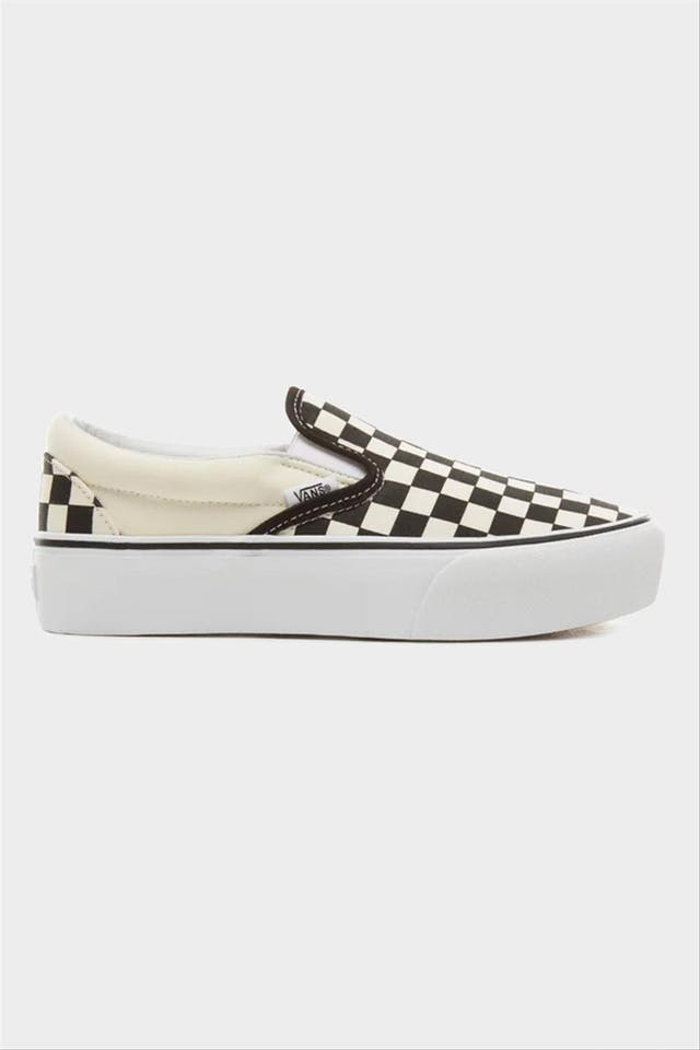 Zwart-ecru Checkerboard Slip-on sneaker