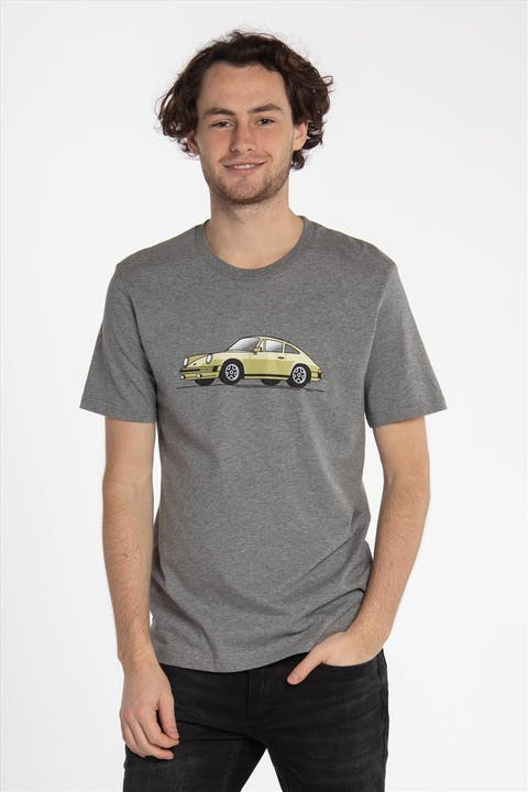 Grijze 'Piston Club-Porche 911' T-shirt